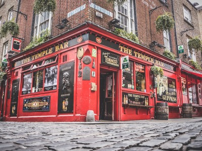 Die Temple Bar in Dublin, Irland.